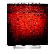 Red Rain Shower Curtain by Dave Bowman