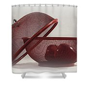 Red Red Apples Shower Curtain by Judy Hall-Folde