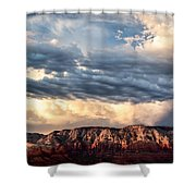 Red Rocks Of Sedona Shower Curtain by Dave Bowman