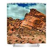 Red Sandstone Shower Curtain by Robert Bales