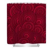 Red Swirls Shower Curtain by Frank Tschakert