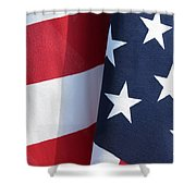 Red White And Blue Shower Curtain by Laurel Powell