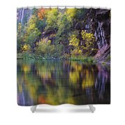 Reflected Fall Shower Curtain by Peter Coskun