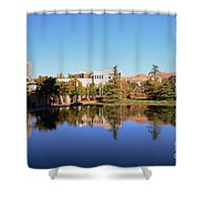 Reflection Pond Shower Curtain by Kathleen Struckle