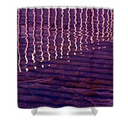 Reflection Shower Curtain by Rona Black