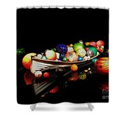 Reflections Of Glass 2 Shower Curtain by Cheryl Young
