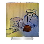 Reflective Still Life Jars Shower Curtain by Brenda Brown