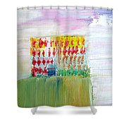 Refuge On The Cliff Shower Curtain by Fabrizio Cassetta