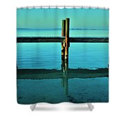 Relax Shower Curtain by Benjamin Yeager