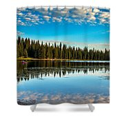 Relaxing On The Lake Shower Curtain by Robert Bales