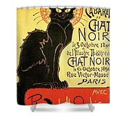 Reopening Of The Chat Noir Cabaret Shower Curtain by Theophile Alexandre Steinlen
