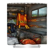 Rescue - Emergency Squad  Shower Curtain by Mike Savad