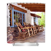Reserved Seating Palm Springs Shower Curtain by William Dey
