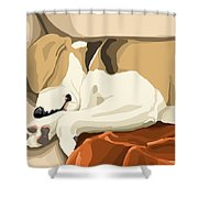 Rest Shower Curtain by Veronica Minozzi