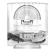 Restoration Of The Greek Theater Shower Curtain by Photo Researchers
