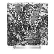Resurrection Shower Curtain by Albrecht Duerer