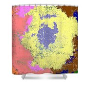 Retro Tie Dye Shower Curtain by Joseph Baril