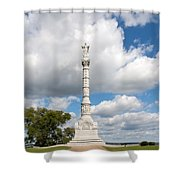 Revolutionary War Monument At Yorktown Shower Curtain by John Bailey