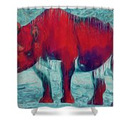 Rhino Shower Curtain by Jack Zulli