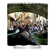 Rhythm Of Venice Shower Curtain by Jennie Breeze