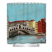 Rialto Bridge Shower Curtain by Anastasiya Malakhova