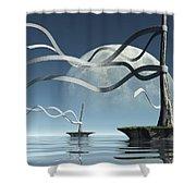 Ribbon Island Shower Curtain by Cynthia Decker