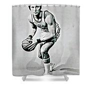 Rick Barry Shower Curtain by Florian Rodarte
