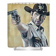 Rick Grimes Shower Curtain by Tom Carlton
