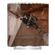 Riddle Of The Rock Shower Curtain by Bob Christopher