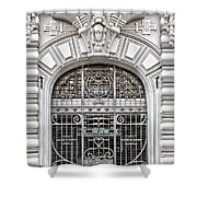 Riga Art Nouveau District 03 Shower Curtain by Antony McAulay