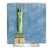 Riga Freedom Monument Shower Curtain by Antony McAulay