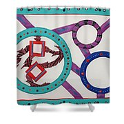 Ring Of Fire Shower Curtain by Robert Margetts