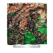 Rings Shower Curtain by Jack Zulli