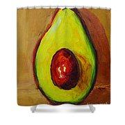 Ripe Avocado Shower Curtain by Patricia Awapara