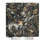 Ripples Shower Curtain by Nick Payne