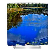 Ripples On Fly Pond - Old Forge New York Shower Curtain by David Patterson