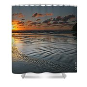 Ripples On The Beach Shower Curtain by Mike  Dawson