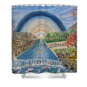 River Of Life Shower Curtain by Neal David Reilly