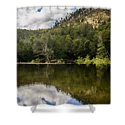 River Reflections I Shower Curtain by Marco Oliveira