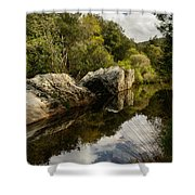 River Reflections II Shower Curtain by Marco Oliveira