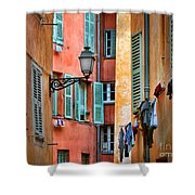 Riviera Alley Shower Curtain by Inge Johnsson