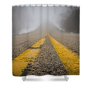 Road To Nowhere Shower Curtain by Bill Pevlor