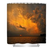 Roar Of The Heavens Shower Curtain by Terri Gostola