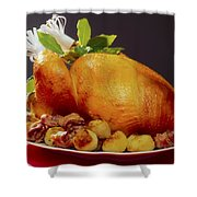 Roast Turkey Shower Curtain by The Irish Image Collection