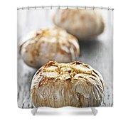 Roasted Garlic Bulbs Shower Curtain by Elena Elisseeva