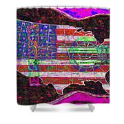 Rock And Roll America 20130123 Violet Shower Curtain by Wingsdomain Art and Photography