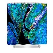 Rock Art 17 In Aqua Shower Curtain by Bill Caldwell -        ABeautifulSky Photography