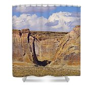 Rock Formations At Capital Reef Shower Curtain by Jeff Swan