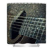 Rock Guitar Shower Curtain by Photographic Arts And Design Studio