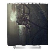 Rocking Horse Shower Curtain by Joana Kruse